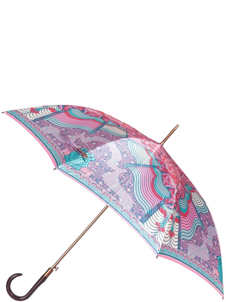Зонт-трость полуавтомат Eleganzza T-06-0340 розовый фото
