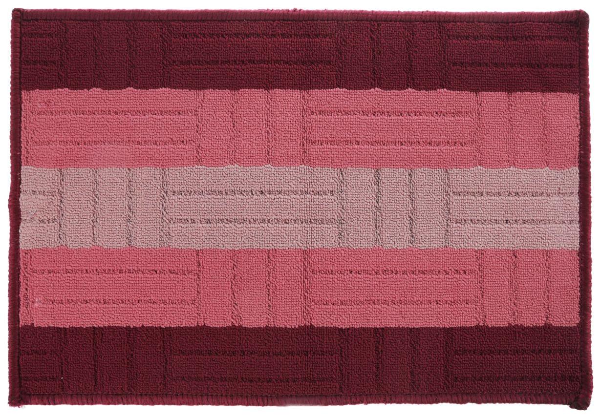 Коврик текстильный Vortex Milan бордовый 40x60 см