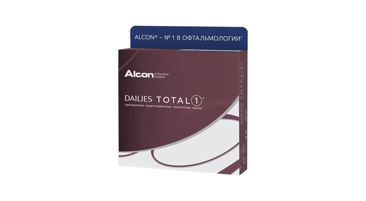 Контактные линзы ALCON Dailies Total 1 90 линз -6,00 фото