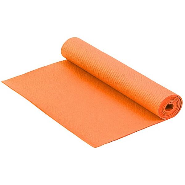 Коврик для фитнеса и йоги Larsen PVC оранжевый 4 мм 173 см