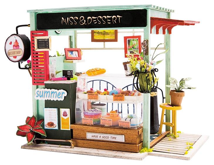 Купить Интерьерный конструктор своими руками DIY House Магазин сладостей, Кукольные домики