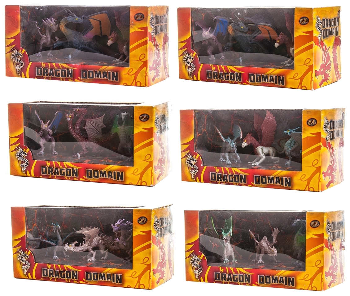 Купить Фигурка Megasaurs SV11692 Мегазавры Драконы 3 шт. в ассортименте, HGL, Игровые наборы