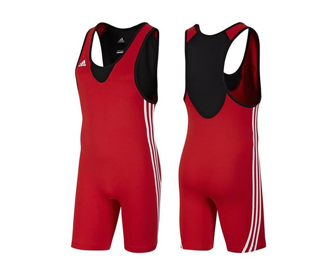 Трико борцовское Adidas Base Wrestler красное XL