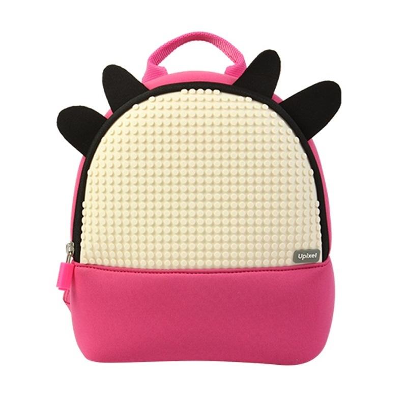 Купить Детский рюкзак Doodle Cattle WY-A029 розовый, Upixel, Школьные рюкзаки и ранцы