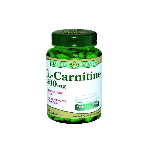 Купить L- карнитин 500 мг, Добавка Nature's Bounty L- карнитин таблетки 500 мг 30 шт.
