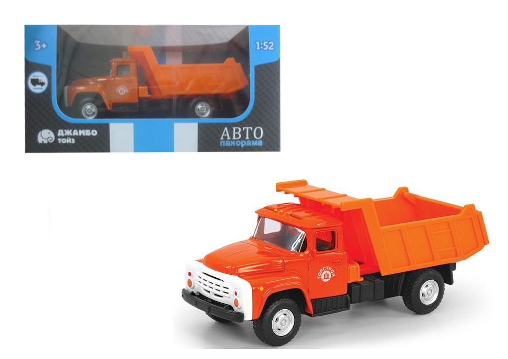 АВТОПАНОРАМА Машинка металлическая Самосвал, оранжевая, 1200097