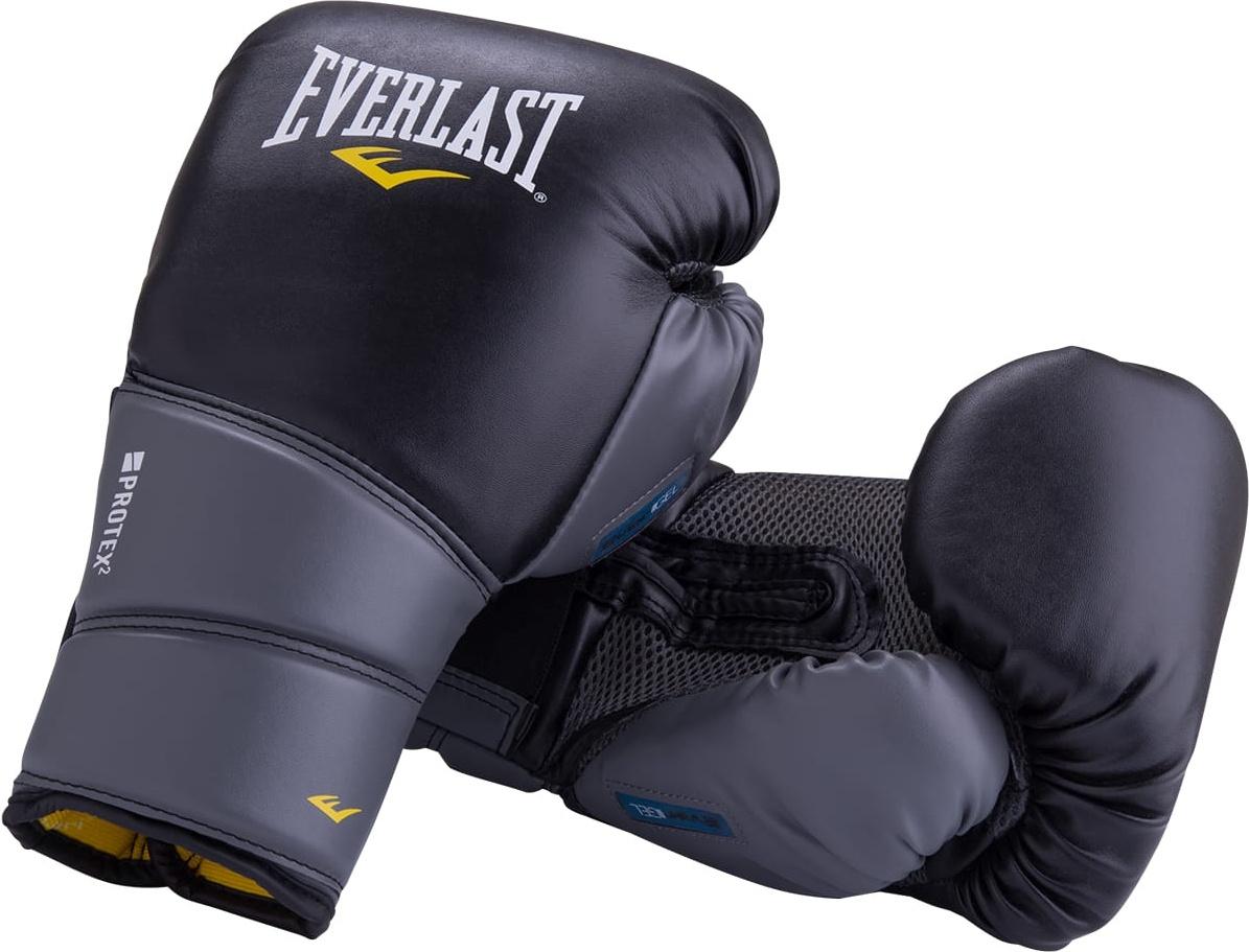 Боксерские перчатки Everlast Protex2 Gel черные