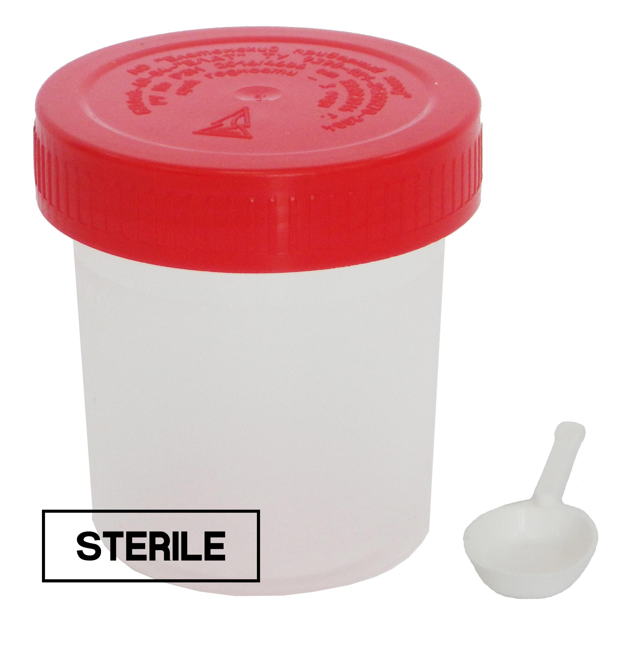Купить Контейнер для биоматериала Еламед стерильный с лопаткой 60 мл