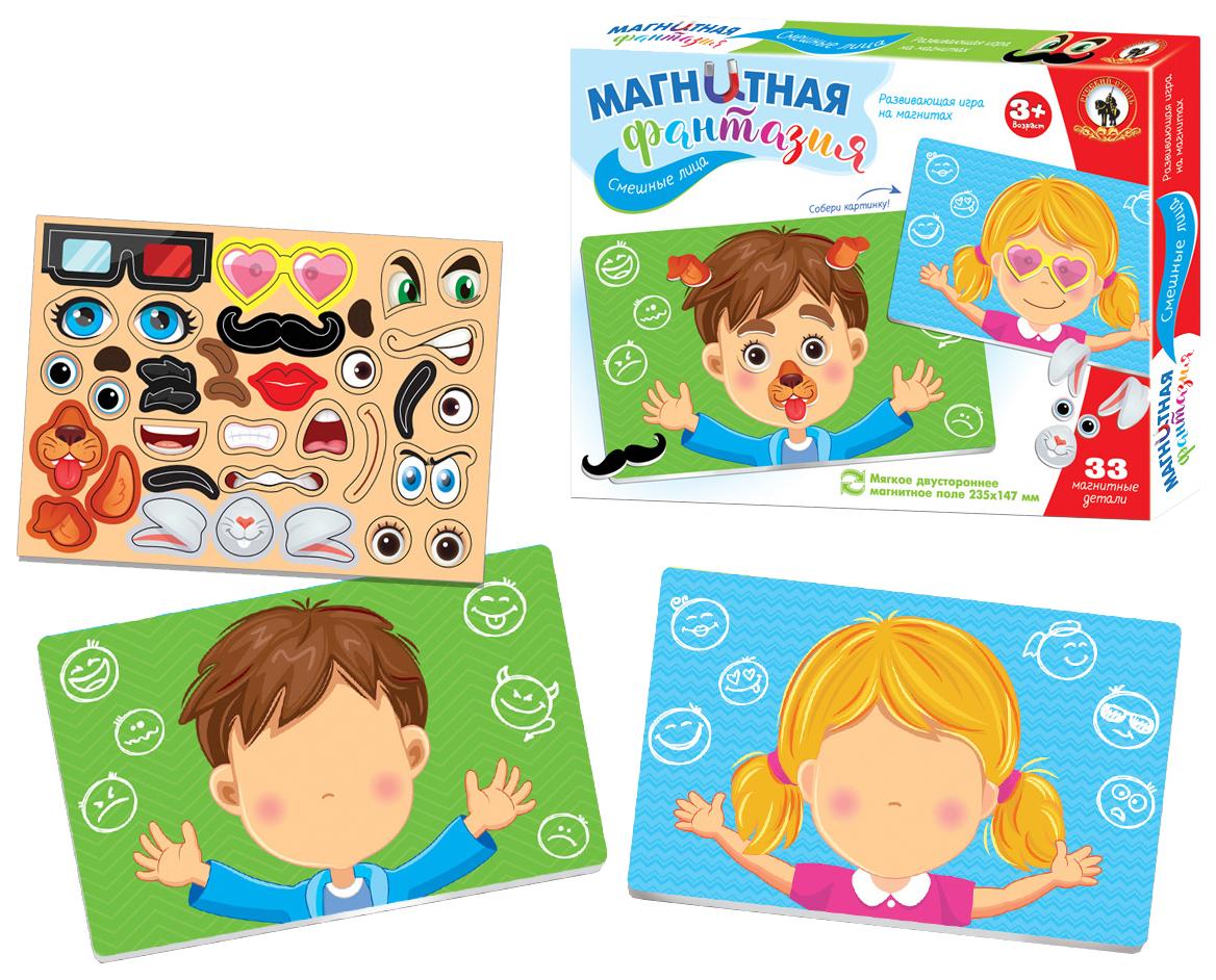 картинка Развивающая игрушка Русский стиль Магнитная фантазия Смешные лица 5405 от магазина Bebikam.ru