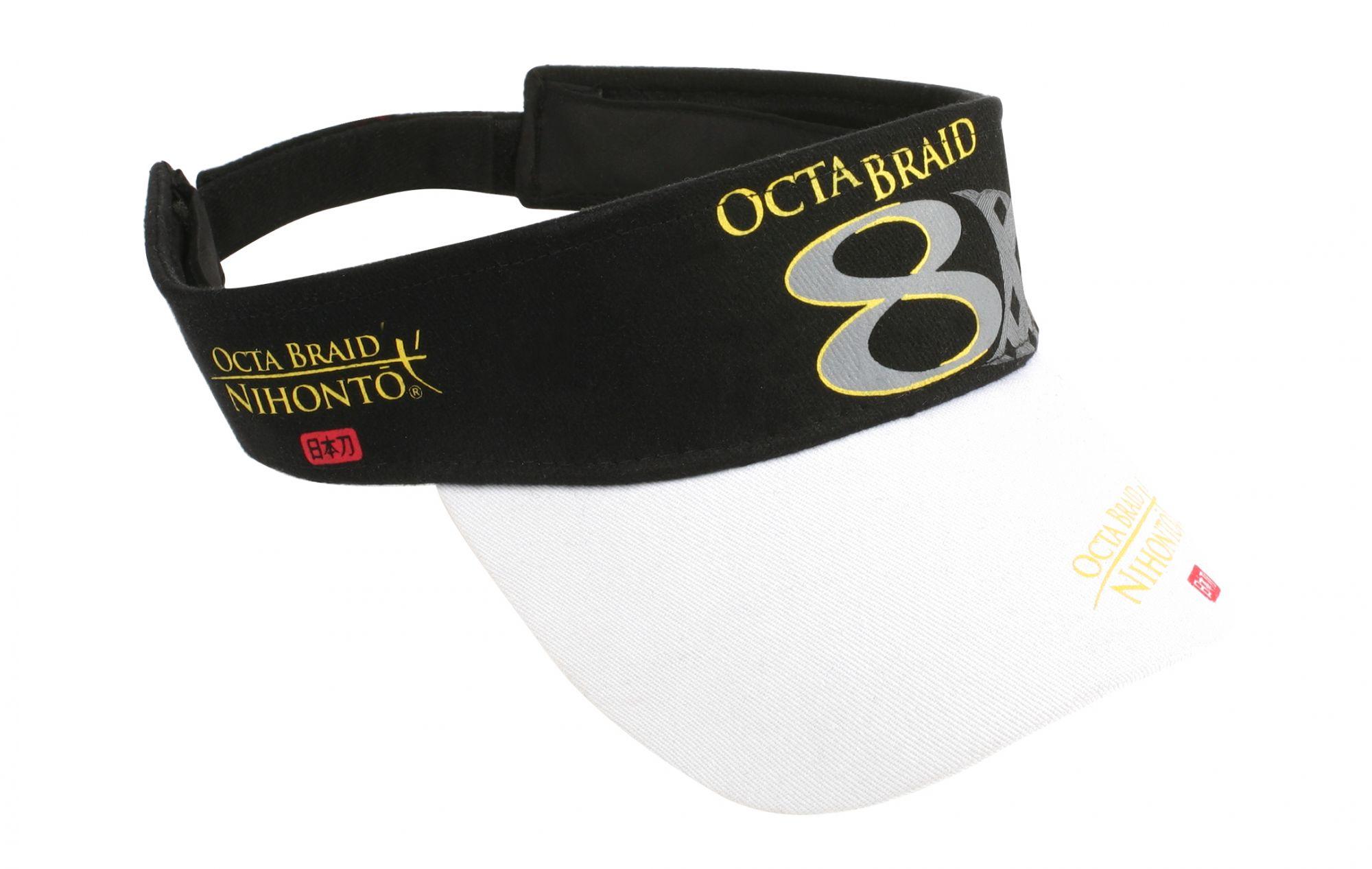 Бейсболка Mikado Octa Braid 8, черная/белая,