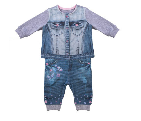 Комплект одежды Папитто для девочки Fashion Jeans 590-05 синий р.24-80