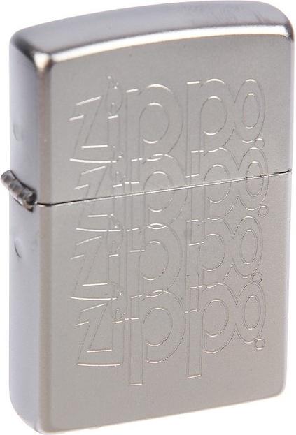 Зажигалка Zippo №205 Zippo Logo Satin Chrome фото