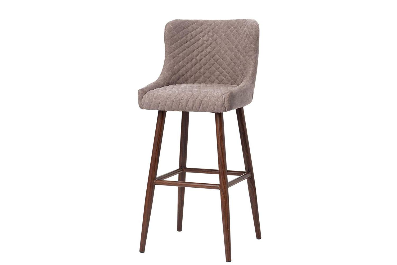 Полубарный стул Hoff Lido, темное дерево/серо коричневый