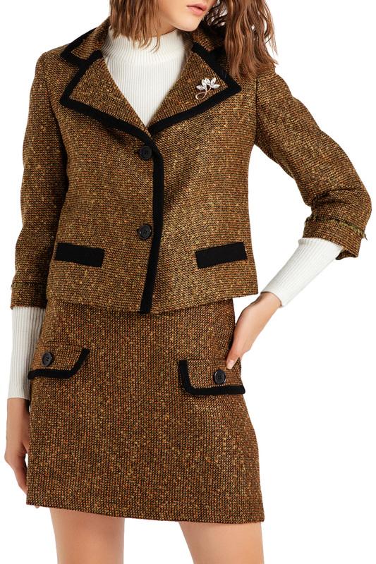 Пиджак женский BGN коричневый 40-L