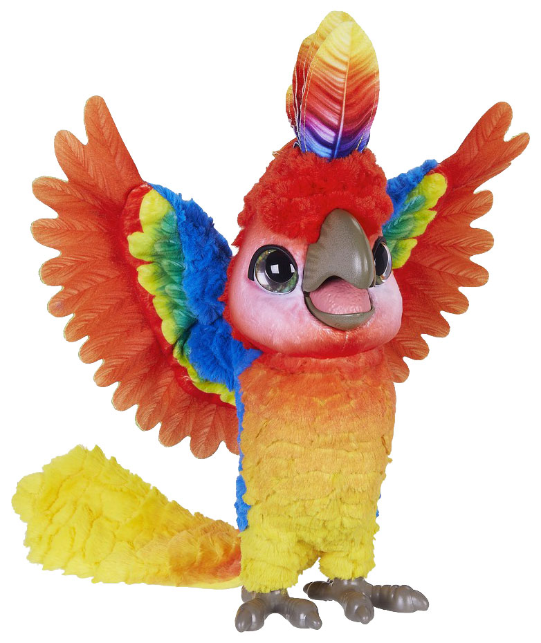 Купить Попугай Кеша FurRealFrends поющий артист, Hasbro, Интерактивные мягкие игрушки