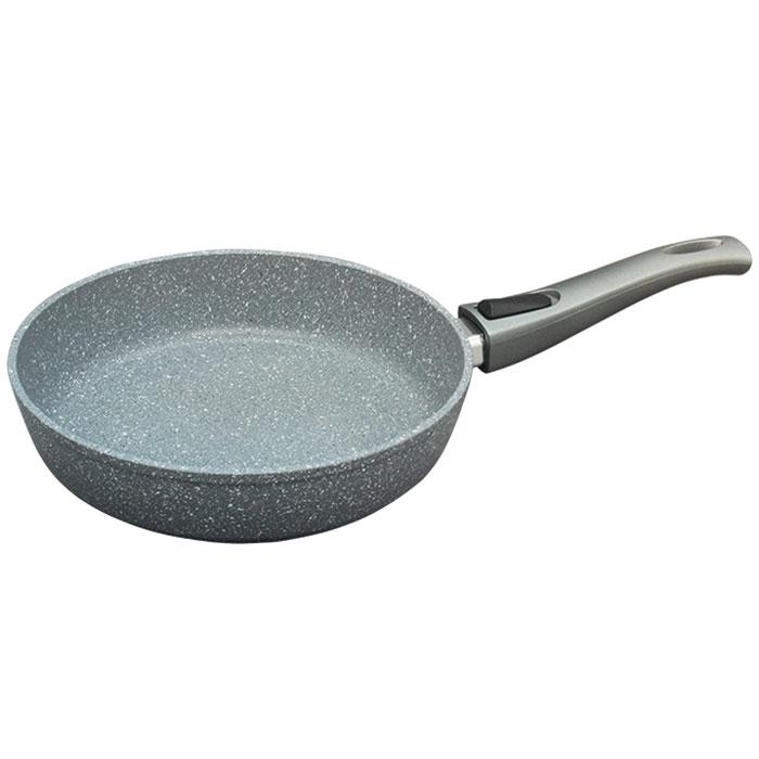 Сковорода литая со съемной ручкой Alpenkok GREY MARBLE. Диаметр 28 см.