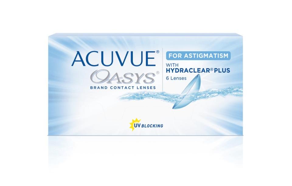 Купить Acuvue Oasys for Astigmatism with Hydraclear Plus 6 линз, Контактные линзы Acuvue Oasys for Astigmatism with Hydraclear Plus 6 R 8, 6 -5, 00/-0, 75/70