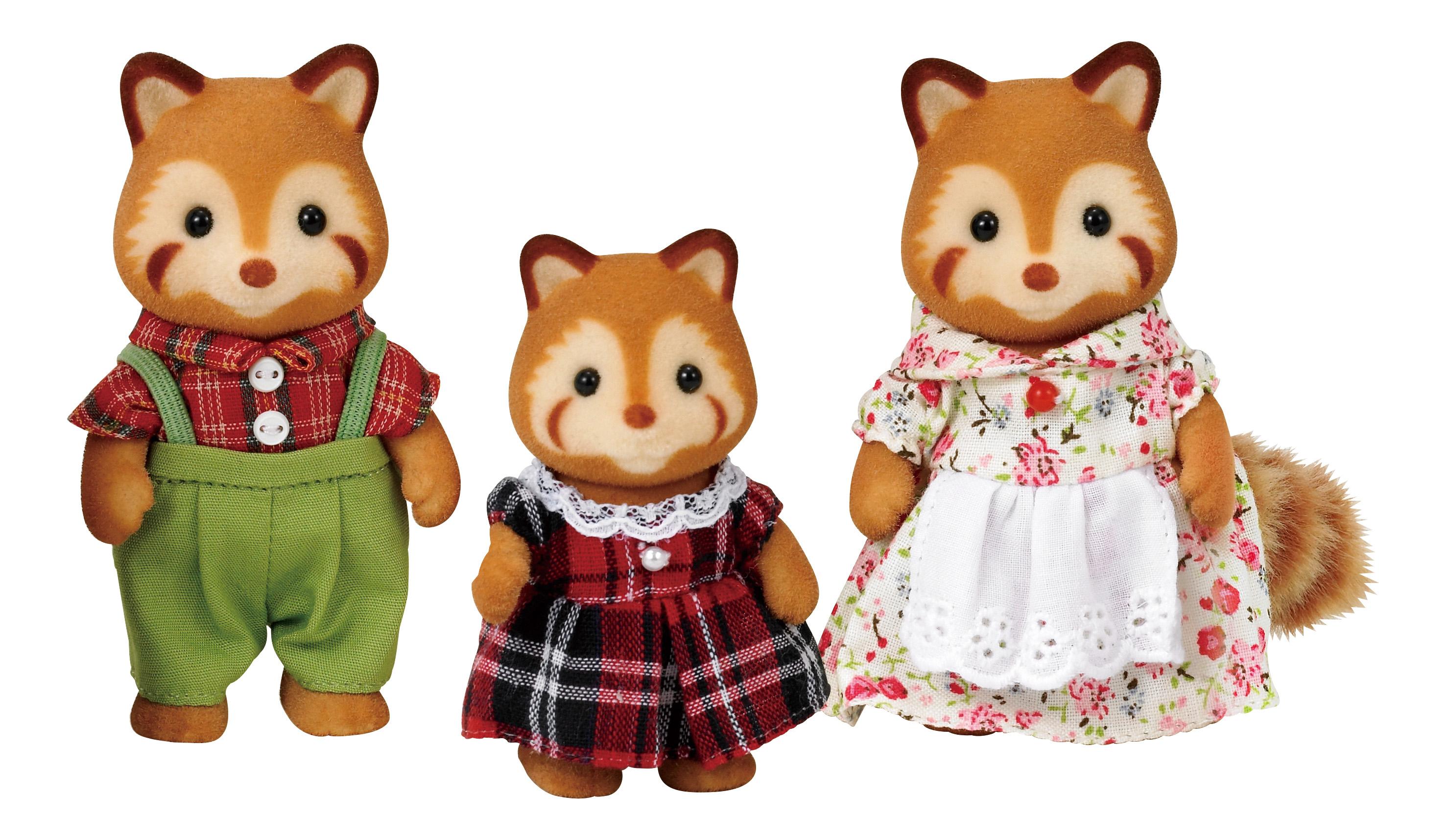 Игровой набор sylvanian families семья красных панд, 3 фигурки