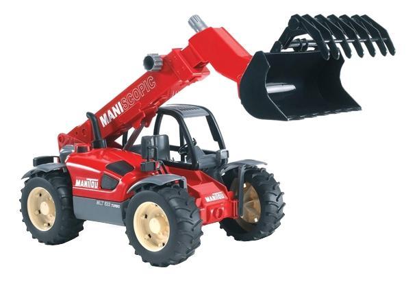 Купить Погрузчик колёсный Bruder Manitou mlt 633 с телескопическим ковшом, Игрушечный транспорт Bruder