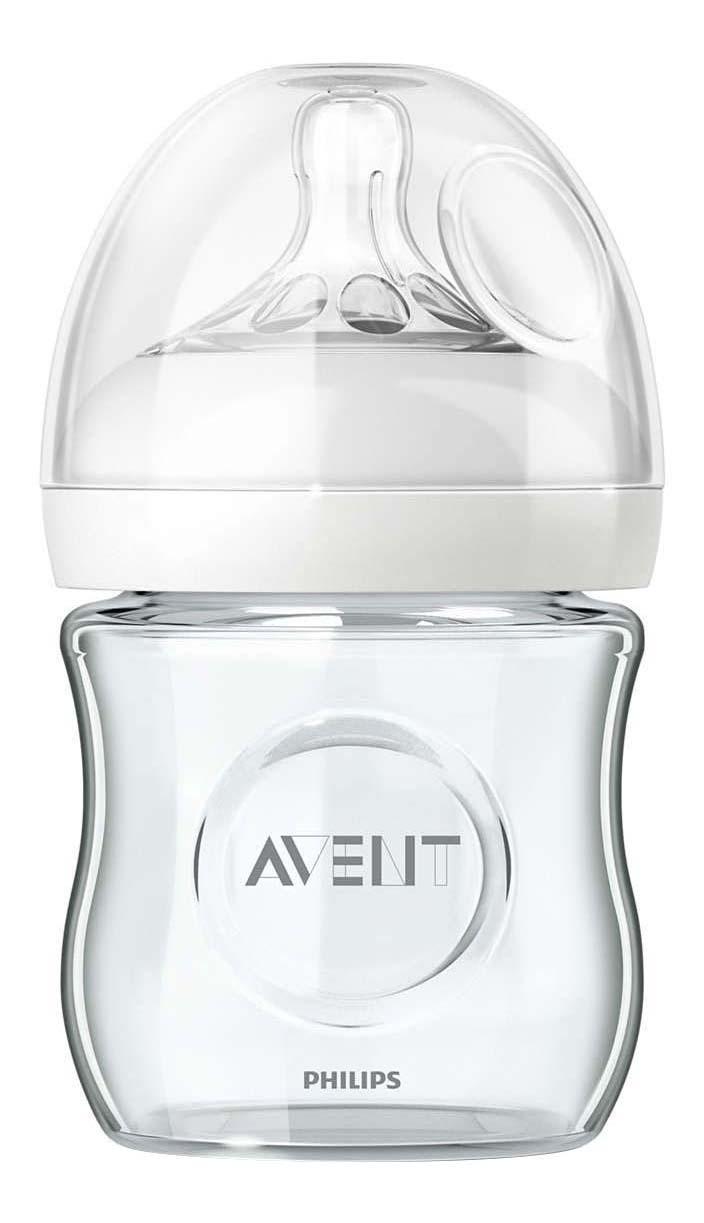Детская бутылочка стеклянная Philips Avent Natural SCF671/17, 120 мл, 1 шт., 0 мес.+