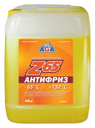 Антифриз AGA G11 желтый готовый антифриз 10л