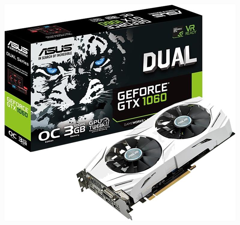 Видеокарта ASUS GeForce GTX1060-O3G Dual, DUAL-GTX1060-O3G  - купить со скидкой