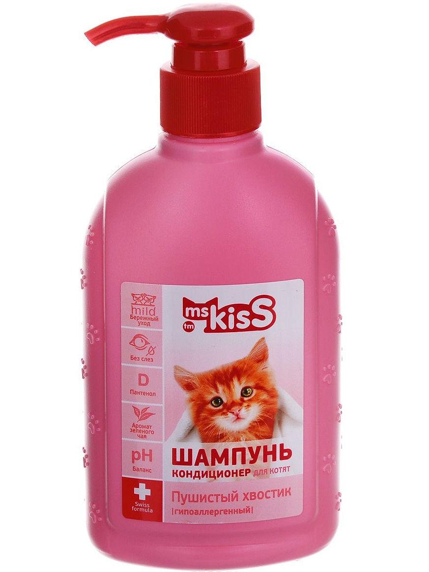 Шампунь-бальзам для котят Ms. Kiss Пушистый хвостик, гипоаллергенный, 200 мл фото