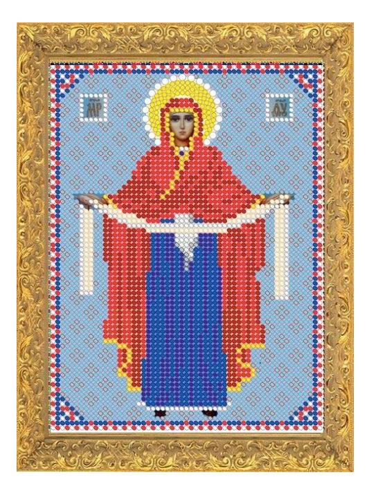 фото вышитых крестом иконы покрова цвета королевских