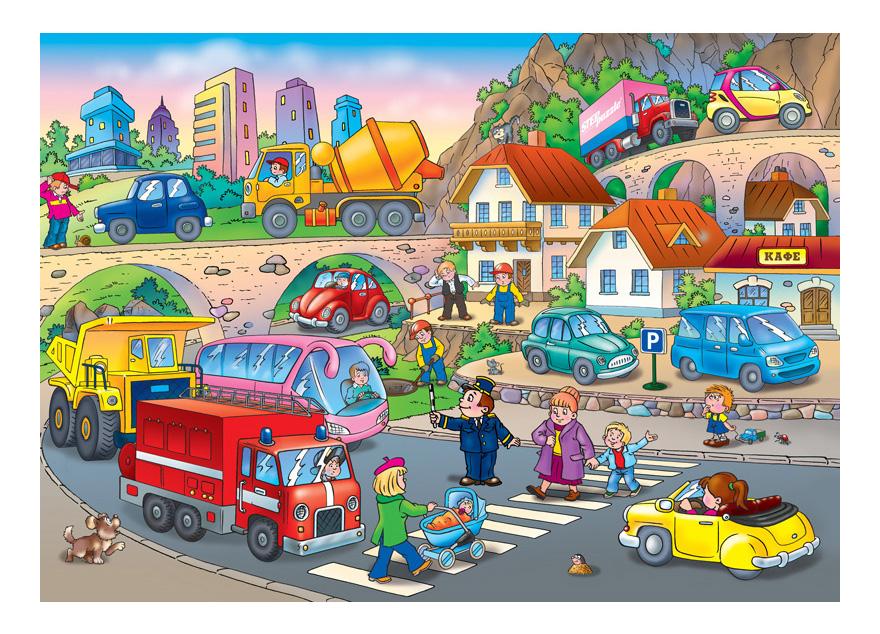 Картинка с изображением улицы города для детей
