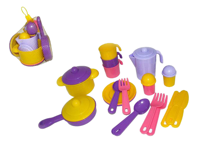 Купить Набор посуды игрушечный Полесье Набор детской посуды Настенька П-3919, Игрушечная посуда