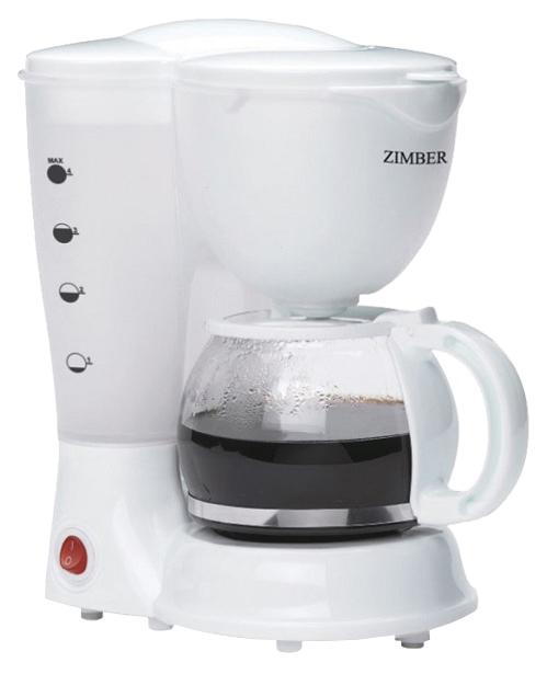 Кофеварка капельного типа Zimber 11009 White