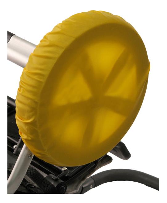 Чехол на колеса детской коляски Чудо-Чадо 4 шт. 18-28 см желтый