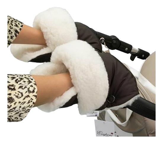Купить На коляску Christer Chocolat, Муфта для рук мамы на детскую коляску Esspero На коляску Christer Chocolat, Муфты на коляску