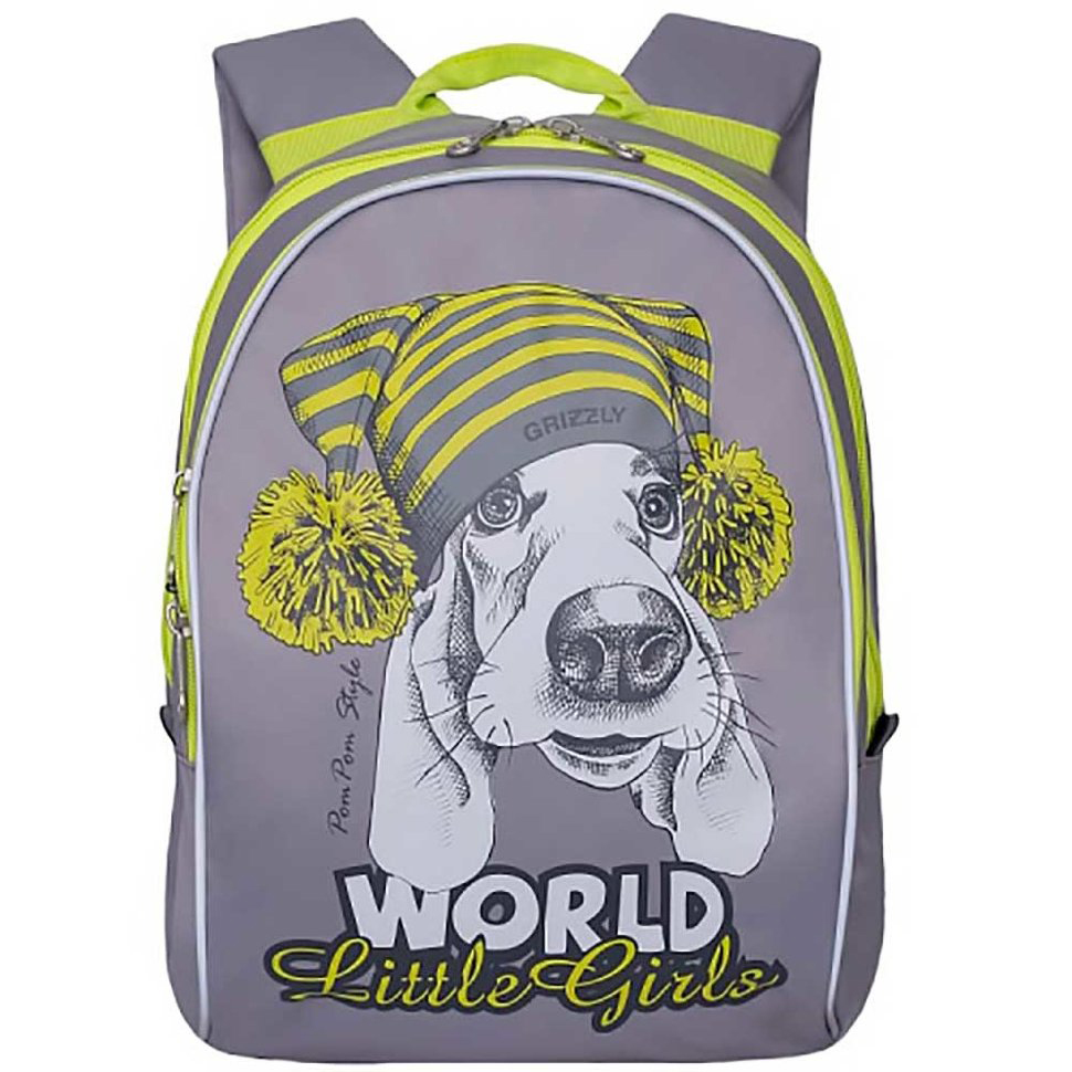 Рюкзак детский Grizzly RS-764-1 детский серый