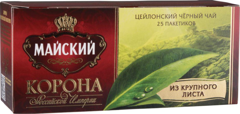 Чай черный Майский корона Российской Империи 25 пакетиков фото