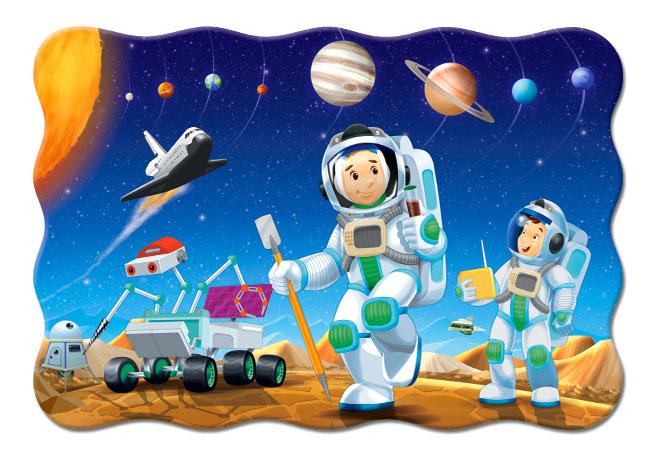 Купить На другой планете, Castorland Пазл Кастор 20 maxi контур на другой планете С-02344, 20 элементов, Пазлы