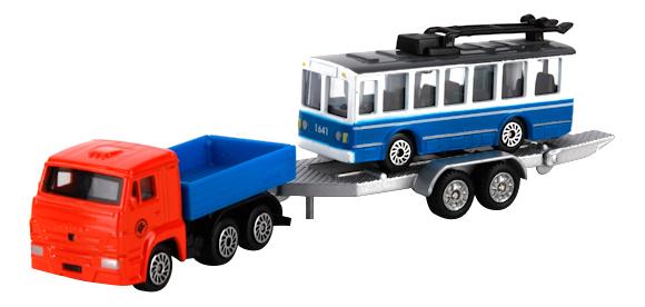 Купить 2 шт. техника, Набор из 2 х моделей металлических Техника Технопарк, Городской транспорт