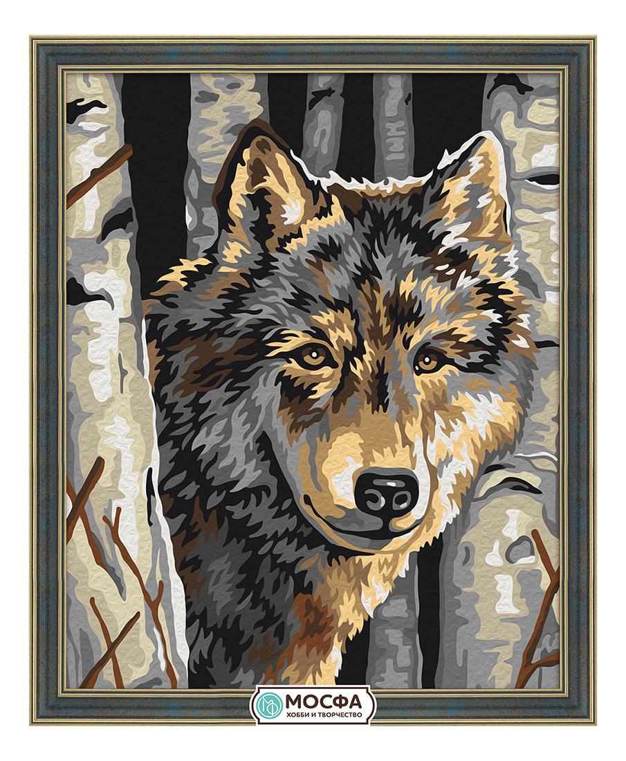 Роспись по холсту Мосфа Волчий портрет фото