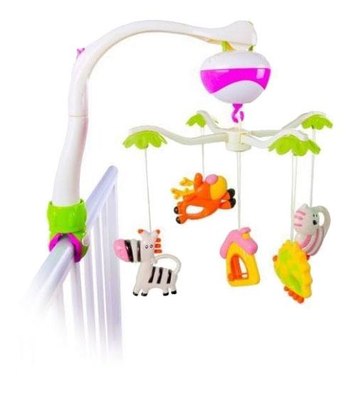 картинка Мобиль электрический Жирафики Зоопарк от магазина Bebikam.ru