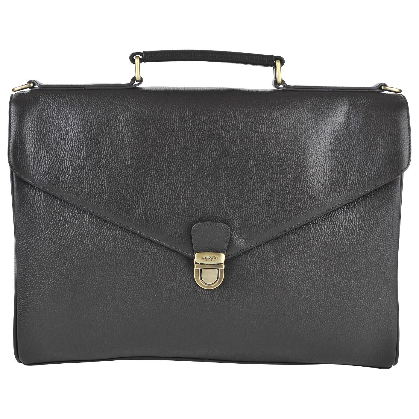 Портфель мужской кожаный Dr. Koffer B402612-220-09 коричневый фото