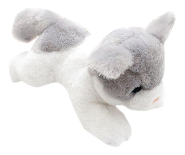 Мягкая игрушка Button Blue Котенок бело-серый, 23 см