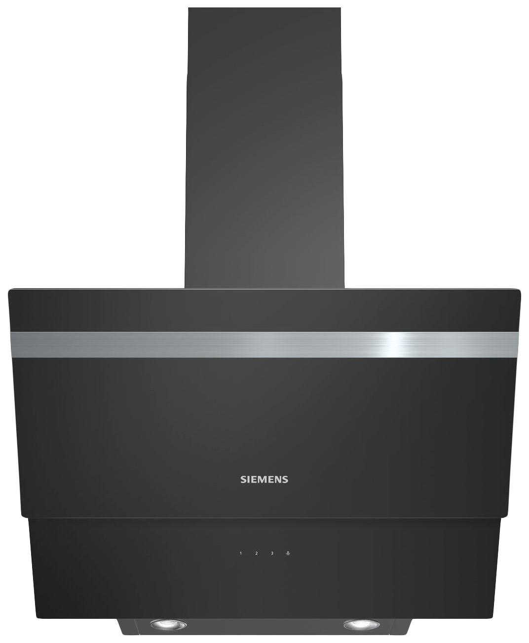 Вытяжка наклонная Siemens LC65KA670R Black/Silver