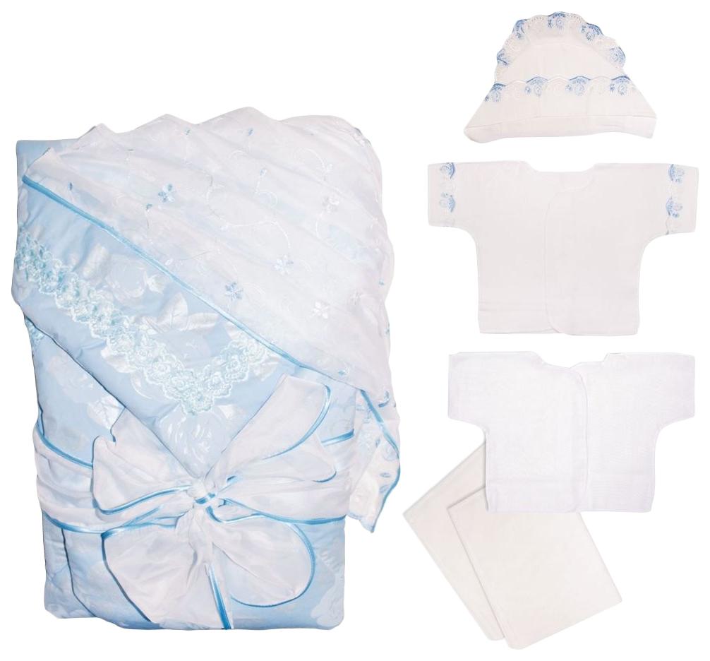 Комплект на выписку  Крошкин дом Кристи белый/голубой