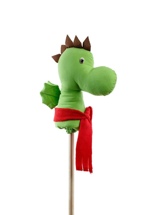 Лошадка скакалка на палочке динозавр дракоша коняша