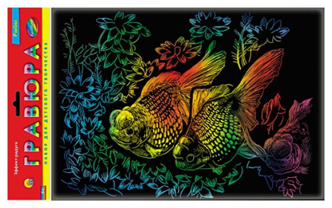Гравюра Рыжий Кот Рыбки