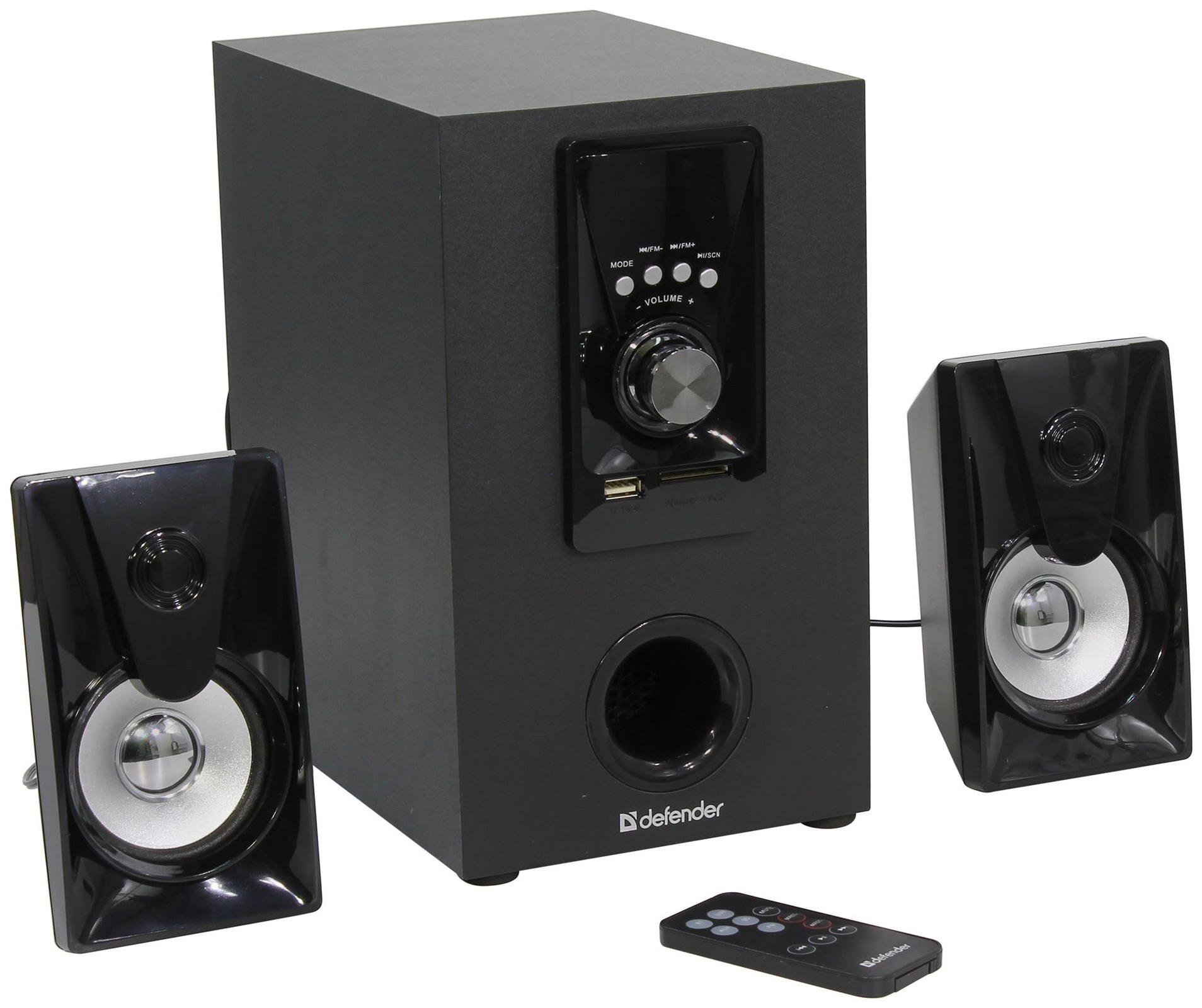 Колонки компьютерные DEFENDER X100 Черный 2,1,10W, Bluetooth,