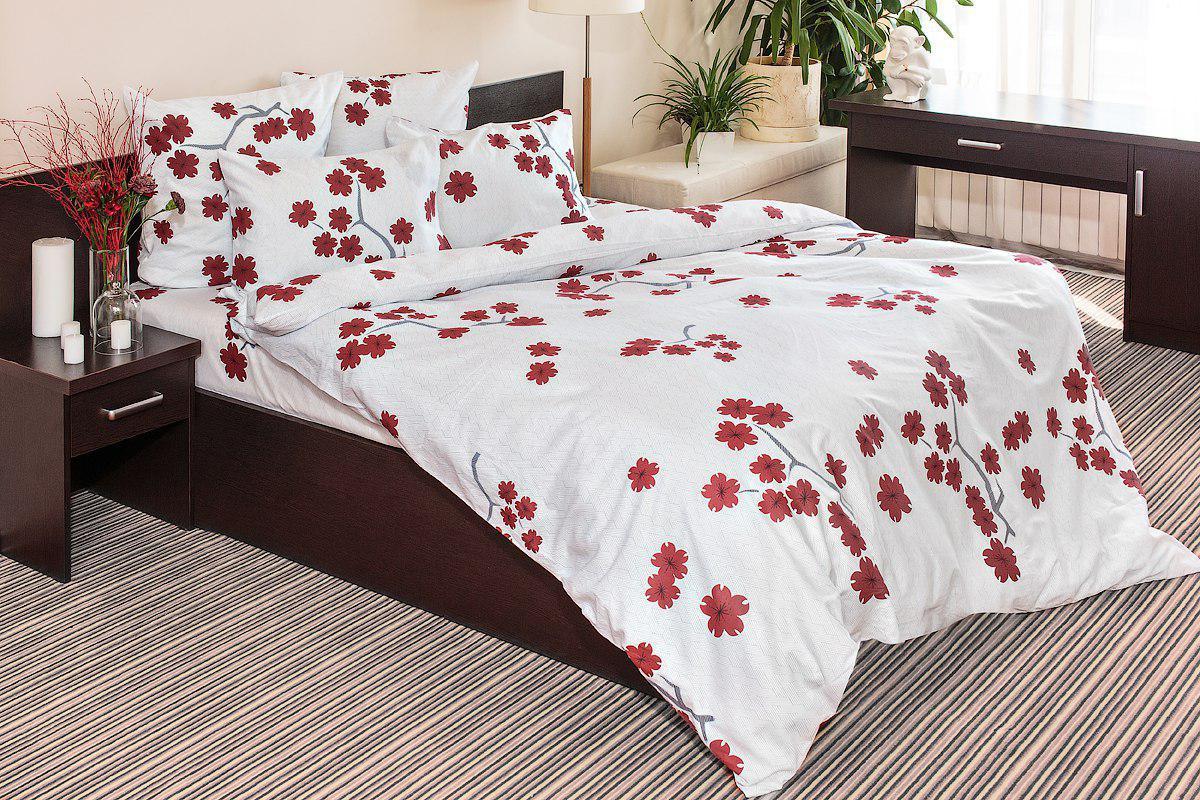 Комплект постельного белья Ночь нежна Zigzag Udachi Цвет: Бордовый (1,5 спальное)