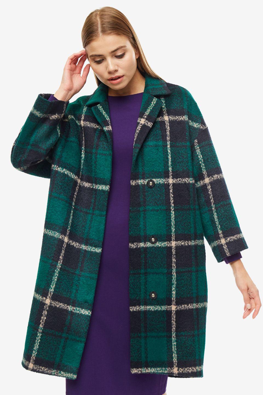 Пальто женское SELVAGGIO зеленое