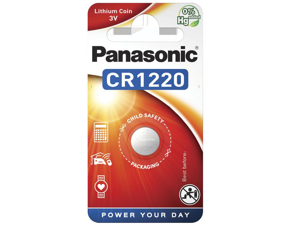 Батарейка Panasonic CR 1220EL/1B 1 шт