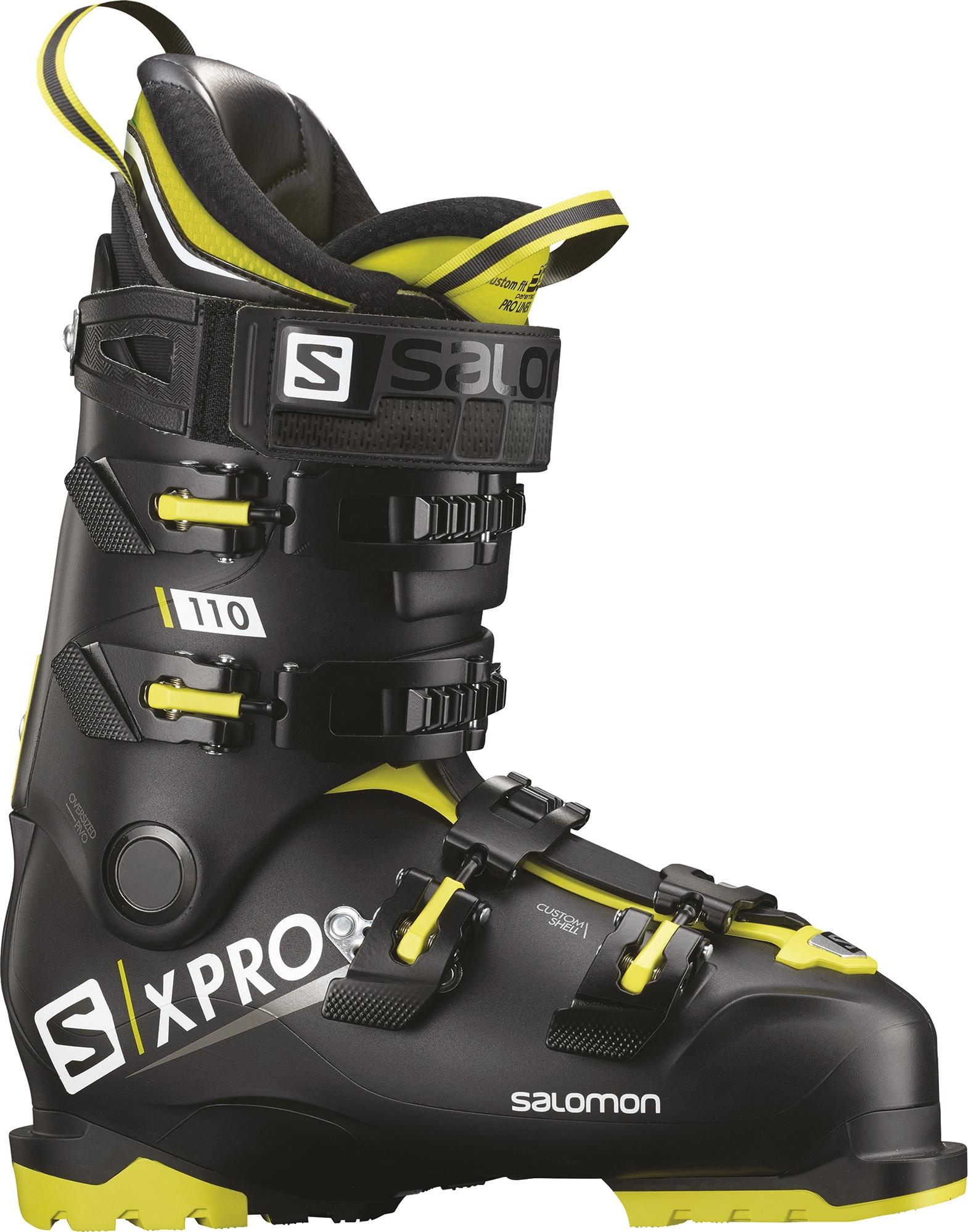 Горнолыжные ботинки Salomon X Pro 110 2019, black/acid green/anthracite, 29.5 фото